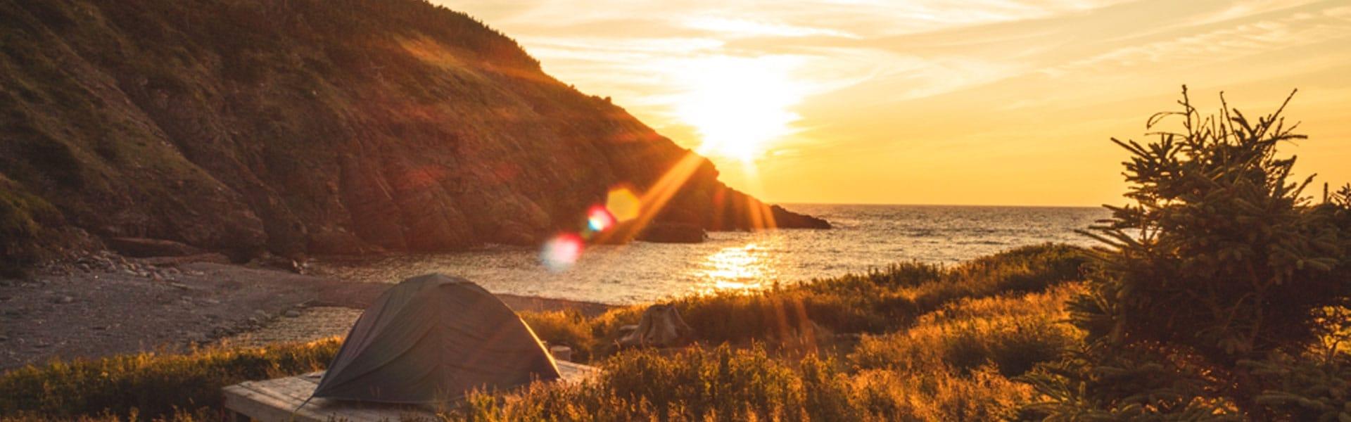 Sunrise over a stunning coastal scene