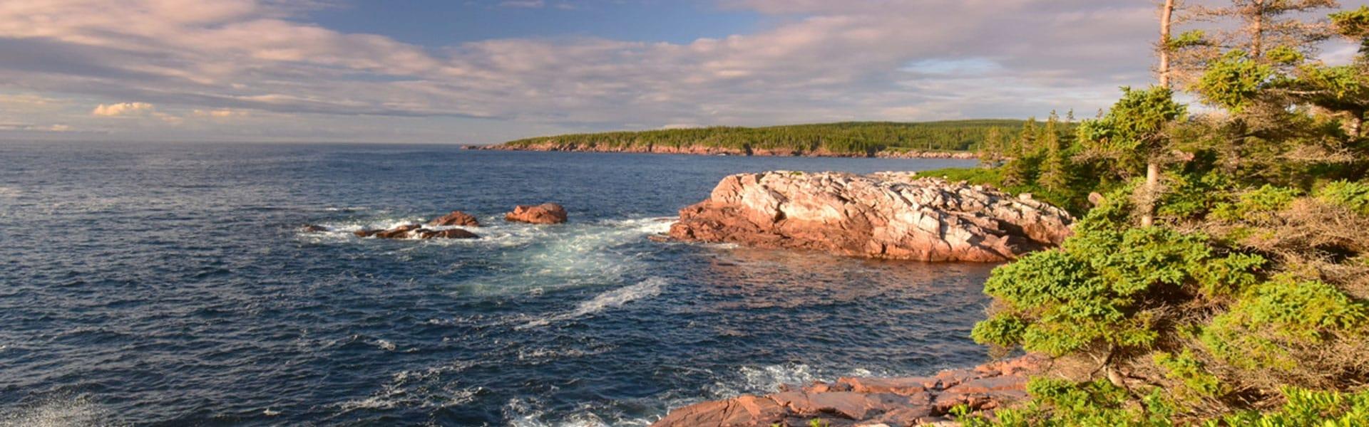 A rocky ocean landscape