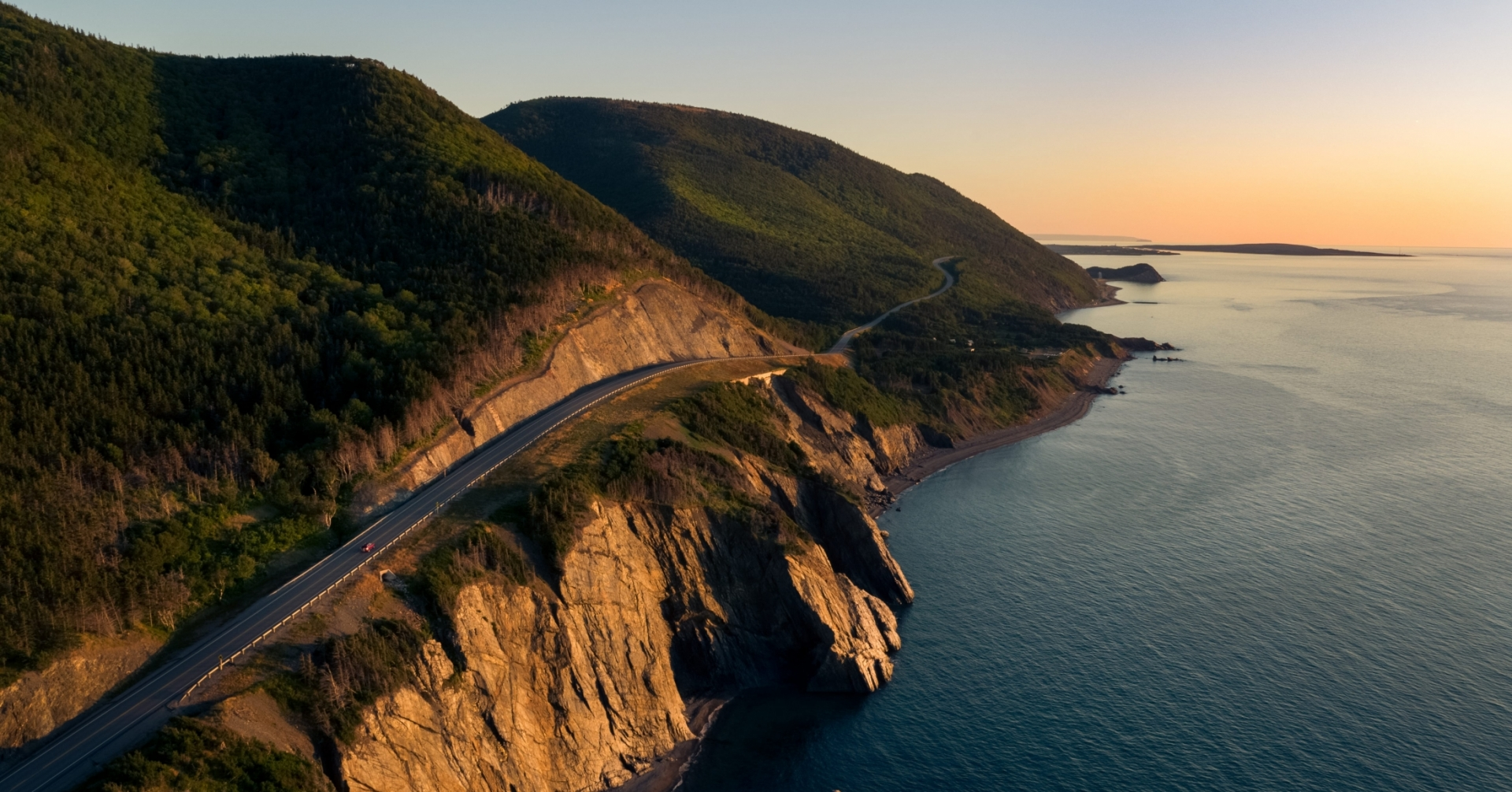 Sunset on the Cabot Trail Coastline, Cap Rouge