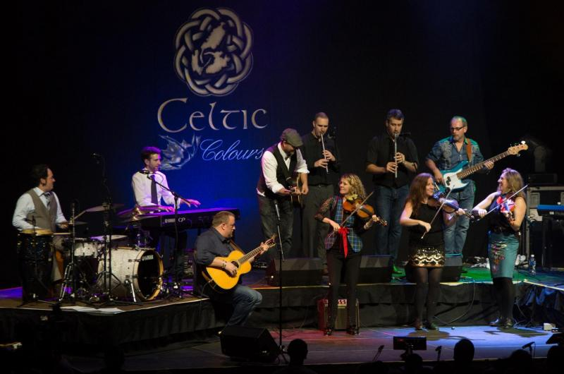 A musical group performs during Celtic Colours International Festival