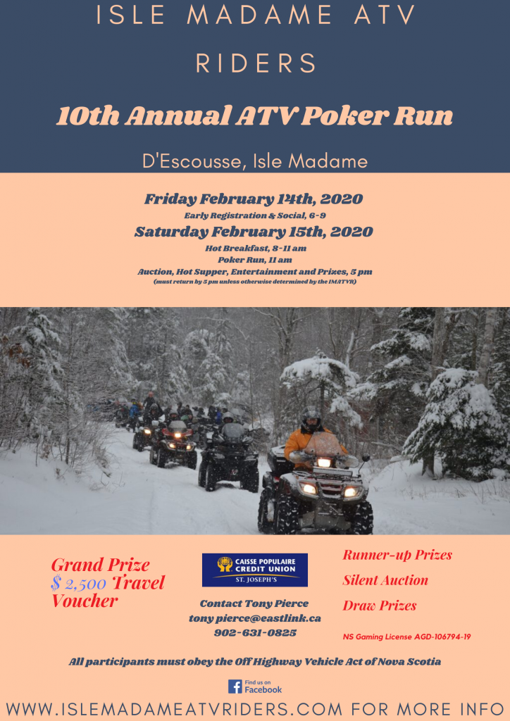 10th Annual Isle Madame ATV Rider Winterfest Rally