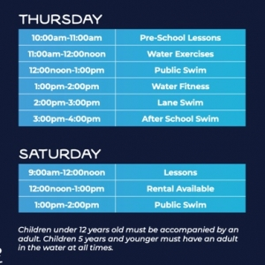 Swim Schedule Port Hawkesbury 1