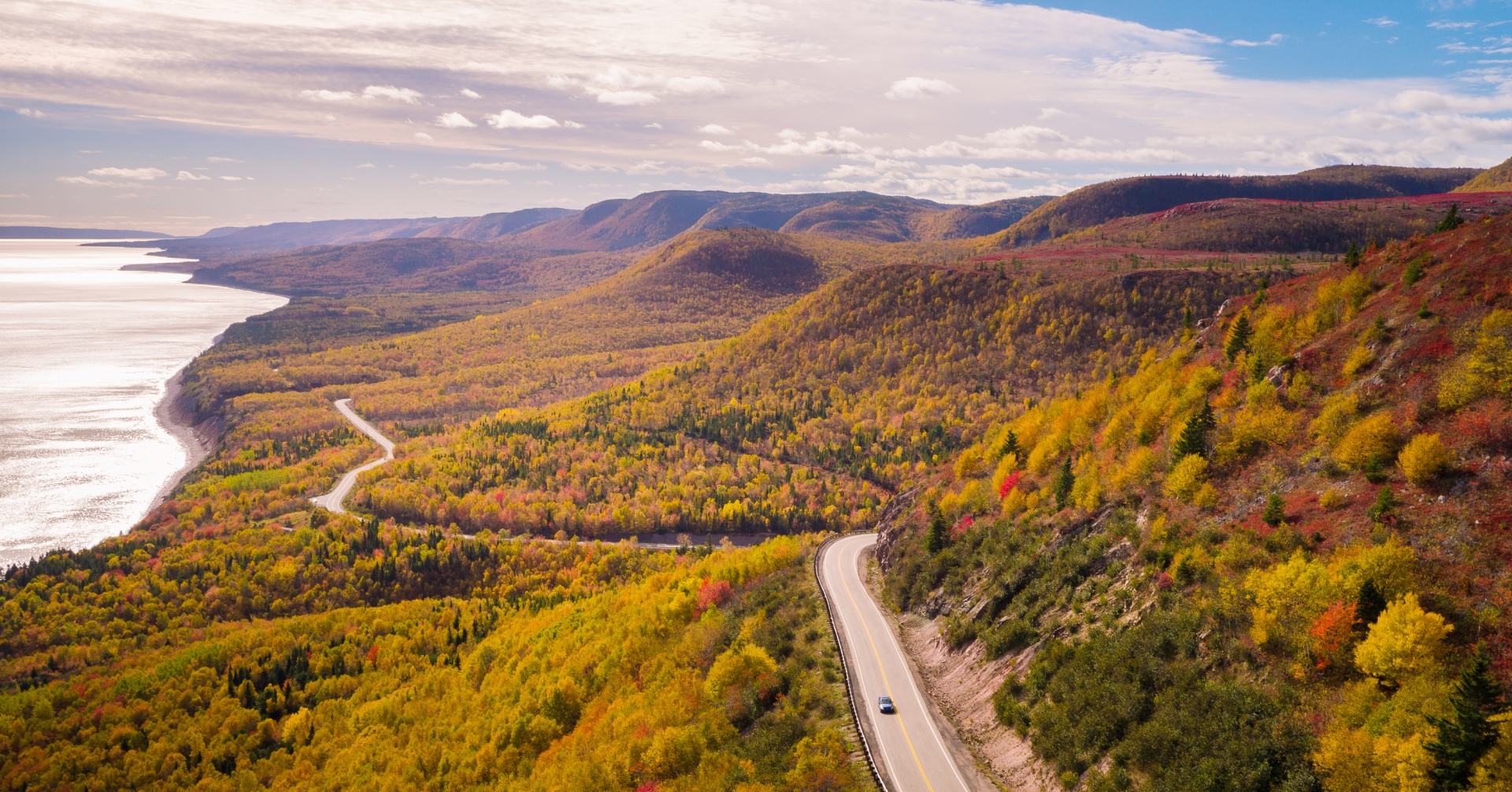 Cabot Trail during autumn